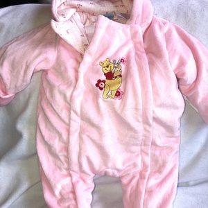 NWOT Disney Baby Winnie The Pooh 3-6M Snowsuit